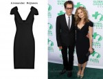 In Kyra Sedgwick's Closet - Alexander McQueen Samurai-Shoulder Crepe Pencil Dress