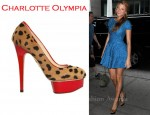 In Blake Lively's Closet - Charlotte Olympia Leopard Print Platform Pumps