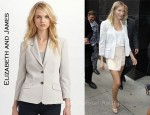In Cameron Diaz' Closet - Elizabeth and James Roll-Sleeve Blazer