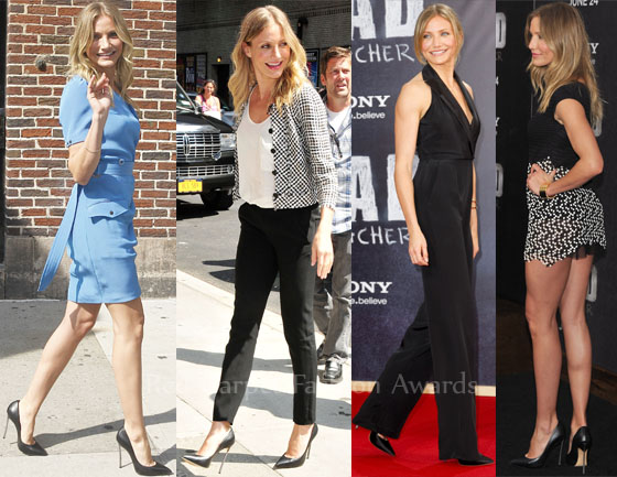 Cameron Diaz Loves Her Casadei Pumps Red Carpet