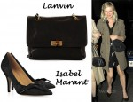 In Kirsten Dunst's Closet - Lanvin Happy Bag & Isabel Marant Bow Front Heels