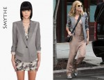 In Heidi Klum's Closet - Smythe Sharp Shoulder Blazer