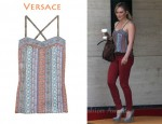 In Hilary Duff's Closet - Versace Floral-Print Silk Camisole