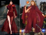 Florence Welch In Gucci - 'Good Morning America' 2011 Summer Concert Series