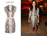 In Courteney Cox' Closet - Lanvin Python-Print Silk Dress