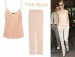 In Rosie Huntington-Whiteley's Closet - The Row Camisole & The Row Pants