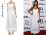 In Jessica Alba's Closet - Dolce & Gabbana Embroidered Dress