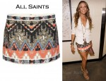 In Sheryl Crow's Closet - AllSaints Aztec Skirt