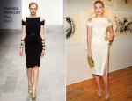 "Amber Heard In Amanda Wakeley - Tasya Van Ree's ""Distorted Delicacies"" Art Exhibit"
