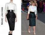 In Anna Wintour's Closet - Marc Jacobs Satin Top & Jacquard Skirt