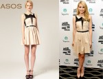 In Emma Roberts Closet - ASOS Mesh Dress with Peter Pan Collar