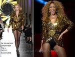 Beyonce Knowles In Alexandre Vauthier Couture - 2011 Glastonbury Festival