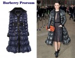 In Rachel Bilson's Closet - Burberry Prorsum Satin Down Coat