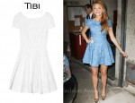 In Blake Lively's Closet - Tibi Floral-Embroidered Cotton Dress