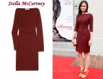 In Alexis Bledel's Closet - Stella McCartney Maroon Seemed Dress