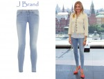 In Cameron Diaz' Closet - J Brand 901 Low-Rise Stretch-Denim Leggings