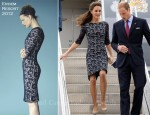 Catherine, Duchess of Cambridge In Erdem - Macdonald-Cartier International Airport