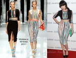 Daisy Lowe In Versace - 2011 Glamour Women of the Year Awards
