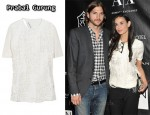 In Demi Moore's Closet - Prabal Gurung Shredded-Effect Crepe Top