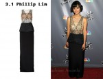 In Dia Frampton's Closet - 3.1 Phillip Lim Embellished Silk-Crepe Gown
