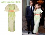 In Diane Kruger's Closet - Alessandra Rich Belted Gown