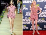 Elle Fanning In D&G - 2011 MTV Movie Awards