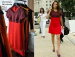 Eva Longoria In Victoria Beckham - The Farm Worker Help Bill Press Conference