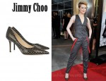 In Evan Rachel Wood's Closet - Jimmy Choo Balance Patent-Leather Mesh Pumps