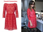 In Rachel Bilson's Closet - French Connection Red Lace Dress