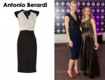 In Gwyneth Paltrow's Closet - Antonio Berardi Stretch-Wool and Chiffon Dress