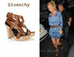 In Gwyneth Paltrow's Closet - Givenchy Crossover Leather Sandals