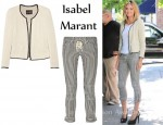 In Heidi Klum's Closet - Isabel Marant Etien woven linen-blend jacket & Isabel Marant Stripe Crop Pants