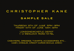 Christopher Kane London Sample Sale TOMORROW