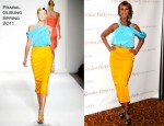 Iman In Prabal Gurung - Gordon Parks Foundation Awards Dinner