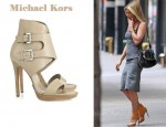 In Jennifer Aniston's Closet - Michael Kors Buckle Sandals
