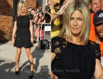 "Jennifer Aniston In Nina Ricci - ""The Daily Show with Jon Stewart"""