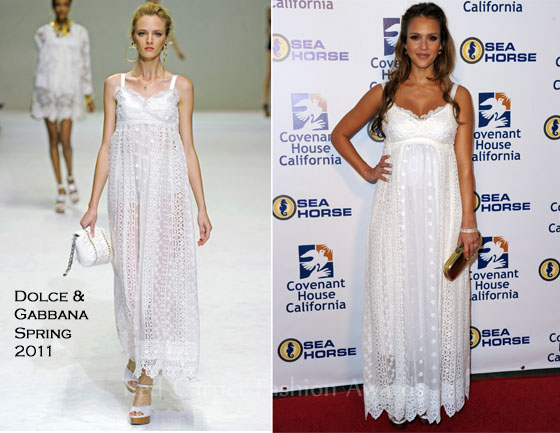 75898aa9f718 Jessica Alba In Dolce   Gabbana – Covenant House California 2011 Gala And  Awards Dinner. Remember ...