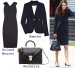 In Catherine, Duchess of Cambridge's Closet - Roland Mouret Dress, Smythe Blazer and Mulberry Bag