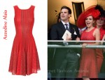 In Katherine Jenkins' Closet - Azzedine Alaia Knit Dress
