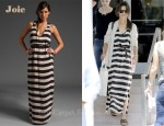 In Katie Holmes' Closet - Joie Stripe Landra Maxi Dress