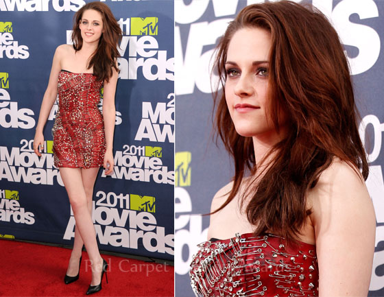 kristen stewart 2011 mtv movie awards. Kristen Stewart arrived at the