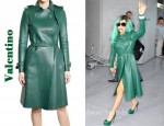 In Lady GaGa's Closet - Valentino Leather Coat
