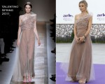 Laura Bailey In Valentino - ARK 10th Anniversary Gala Dinner