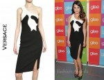 In Lea Michele's Closet - Versace Double Crepe Wool Dress