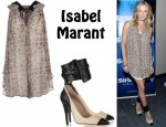 In LeAnn Rimes' Closet - Isabel Marant Draped Top & Isabel Marant Gava Cotton-Rraffia & Leather Pumps