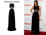 In Leighton Meester's Closet - Michael Kors Cut-Out Leather & Jersey Gown