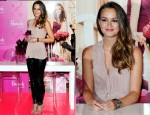 Leighton Meester In Vera Wang - 'Vera Wang Lovestruck' Harrods Launch