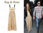 In Lily Aldridge's Closet - Rag & Bone Lafone Silk Maxi Dress