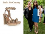 In Liv Tyler's Closet - Stella McCartney Buckled Faux Patent-Leather Sandals