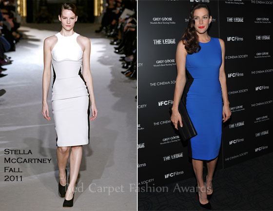 Liv Tyler looked stunning in Christian Louboutin Pigalle 120 patent-leather pumps